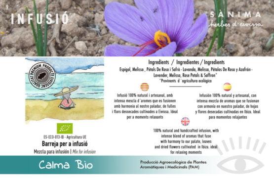 Infusion calma relax saffron lavanda rose calidad natural ecologico ibiza