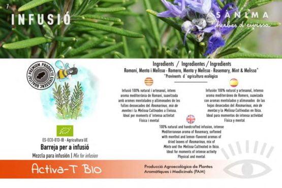 Infusion active romero ginseng mediterraneo calidad natural ecologico ibiza