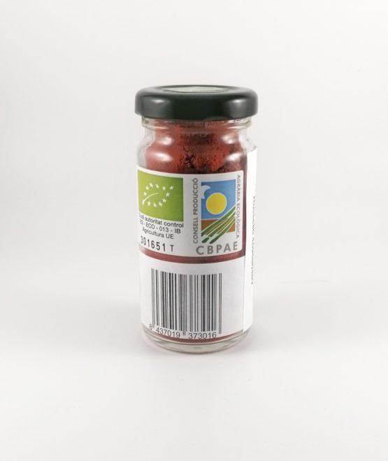Pimentón dulce afrutado Es Toc Vermell ecológico producto local Ibiza trasero